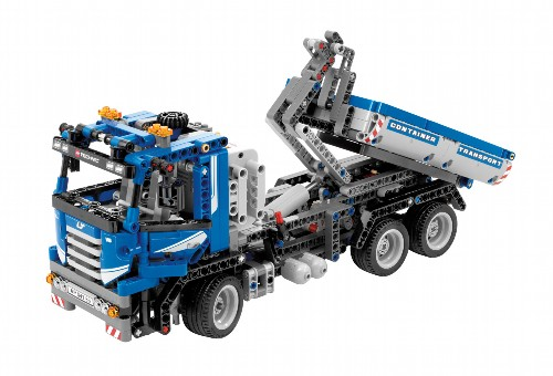 lego technic container truck ratgeberspiel. Black Bedroom Furniture Sets. Home Design Ideas