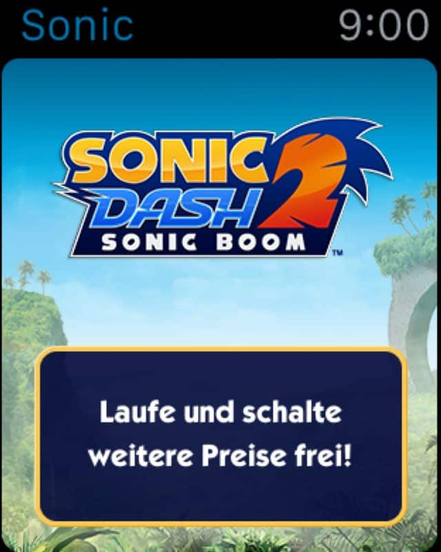 Sonic Dash 2 - Apple Watch Companion App - 01 (German)_ratgeberspiel